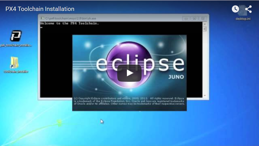 Eclipse IDE for PIXHAWK